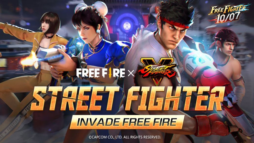Free Fire x Street Fighter event;  date, trailer, Chun-Li and Ryu skins, special weapons and more