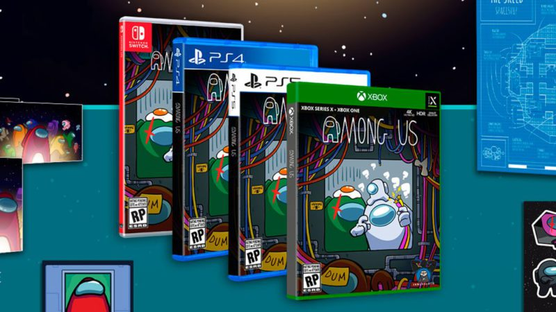Among Us presents three physical editions loaded with extras for PS4, PS5, Xbox and Switch