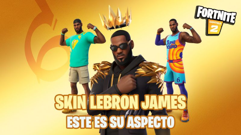 Fortnite: this is the LeBron James skin;  will have Space Jam 2 gear