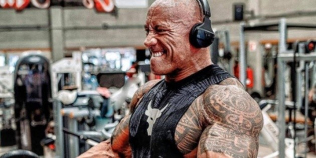 The Rock shared a glimpse of Black Adam's suit from the film's set