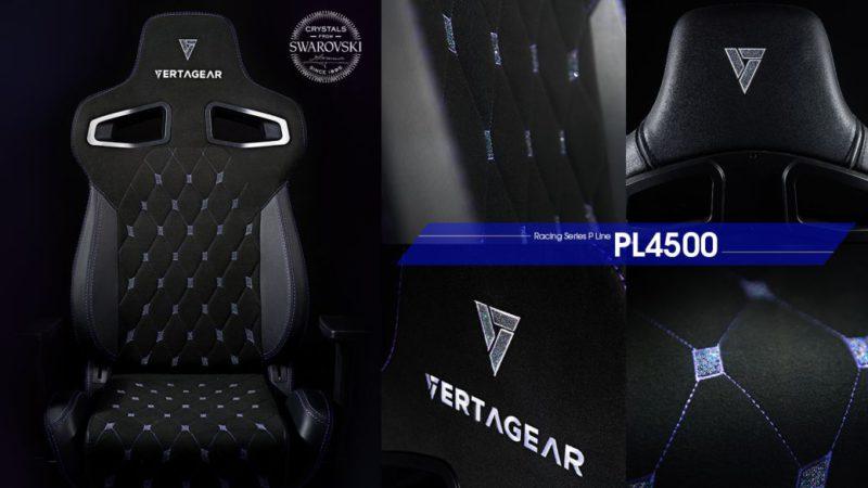 Vertagear PL4500 Crystals, the gamer chair with Swarovski crystals