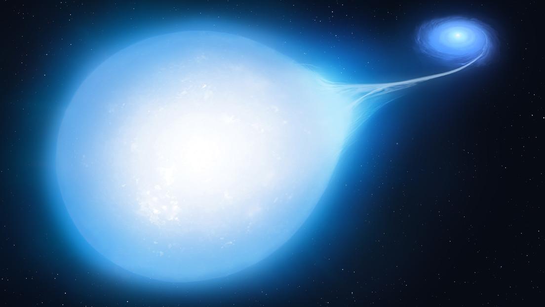Detectan una inusual estrella que se distorsiona en forma de lágrima y que está predestinada a colapsar en una supernova