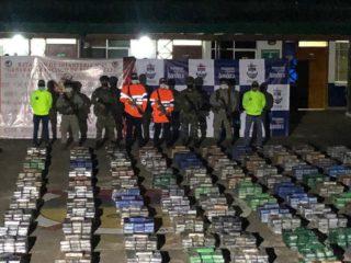 Incautan en Colombia más de cinco toneladas de cocaína valuada en 185 millones de dólares