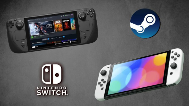 Comparison Steam Deck vs Nintendo Switch OLED: differences and similarities