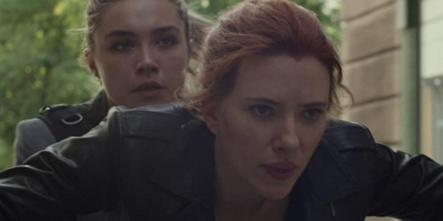 How does Black Widow rank at the global box office?
