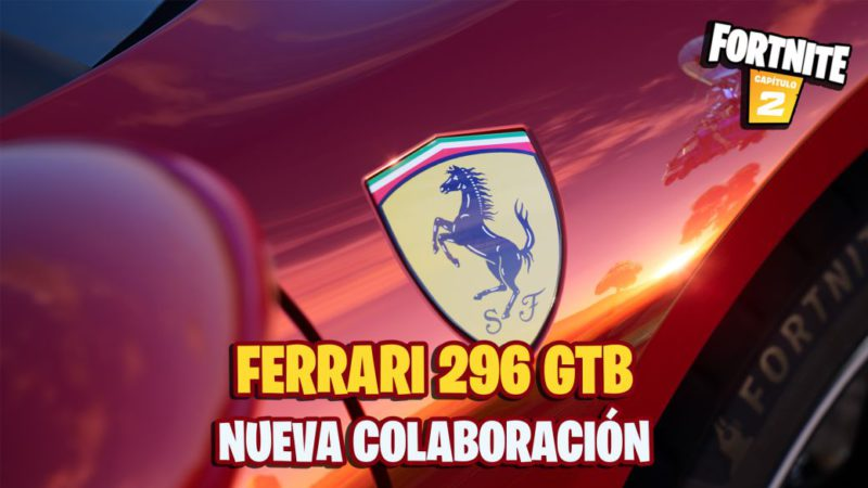 Fortnite: this is the Ferrari that we can drive in the game;  teaser and first details