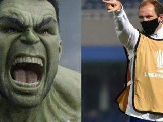 "Leandro Somoza ""confronted"" the Brazilian police imitating the Hulk"