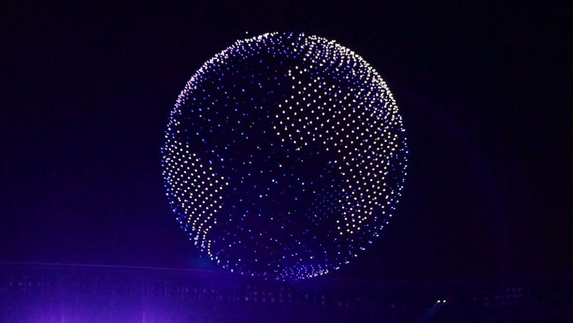 ¿Cuántos miles de drones han usado en el globo de la ceremonia de Tokio 2020?