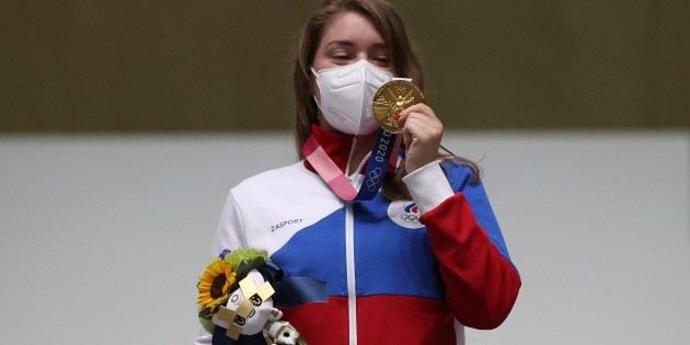 Russian athlete wins gold medal at Olympics with Witcher charm