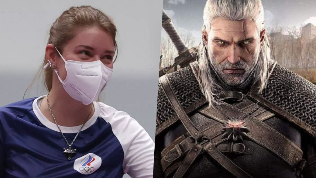Tokyo 2020 Olympics: An athlete wins the gold medal with The Witcher medallion