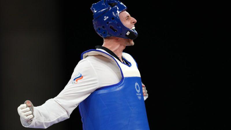 El luchador de taekwondo ruso Vladislav Larin gana el oro en los Juegos Olímpicos de Tokio