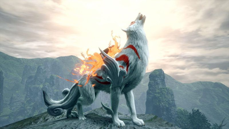 Collaboration with Okami: Monster Hunter players will be able to ride Amaterasu