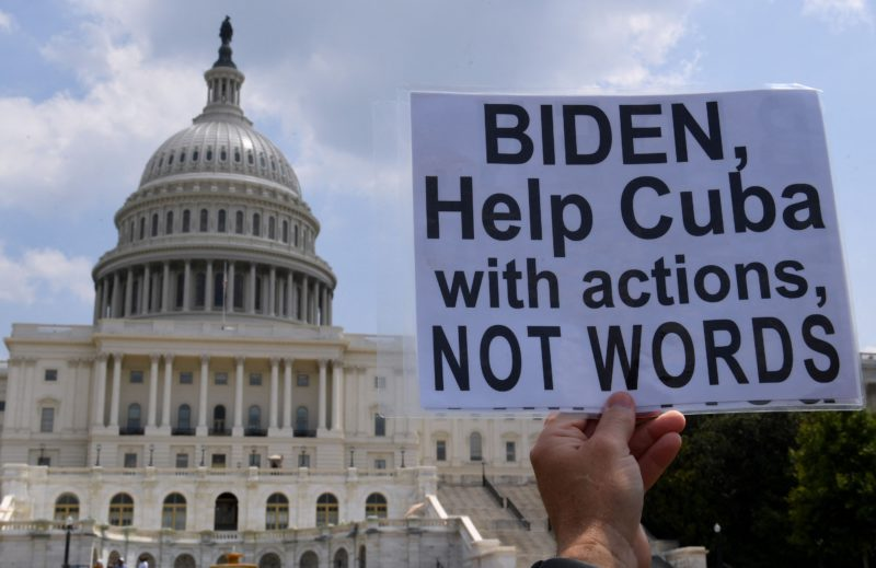 Biden sanctions two senior Cuban police officers for repression of protests