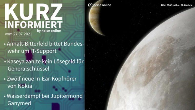 Brief information: Anhalt-Bitterfeld, Kaseya, Nokia-Earbuds, Ganymed