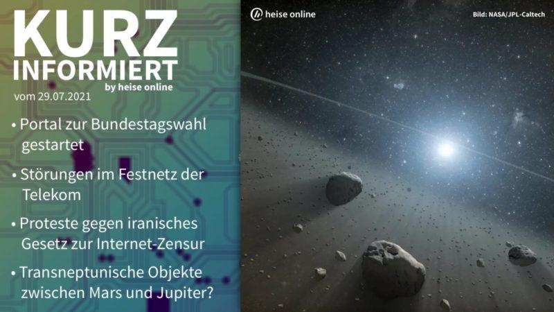 Brief information: Parliamentary Watch, Telecom, Iran, Asteroids