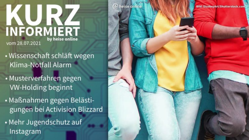 Briefly informed: Climate emergency, VW Holding, Activision Blizzard, Instagram