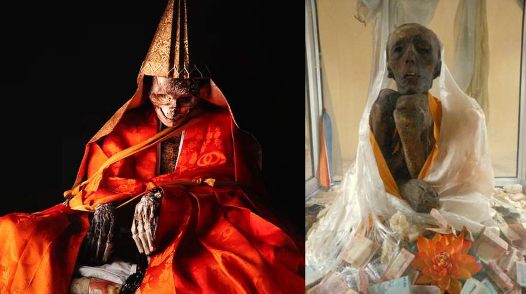 Buddhist monks who stopped eating to become mummies