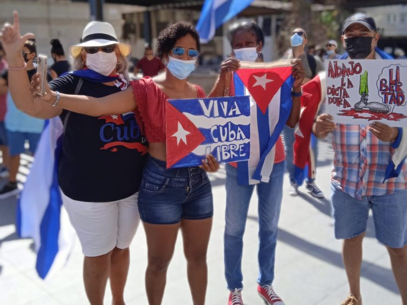 Cubans in Spain: concern and hope in the face of protests on the island