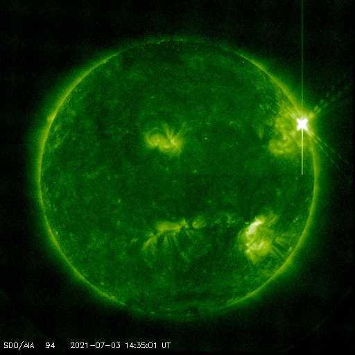 Solar Flare X1,5 vom 3.2.21