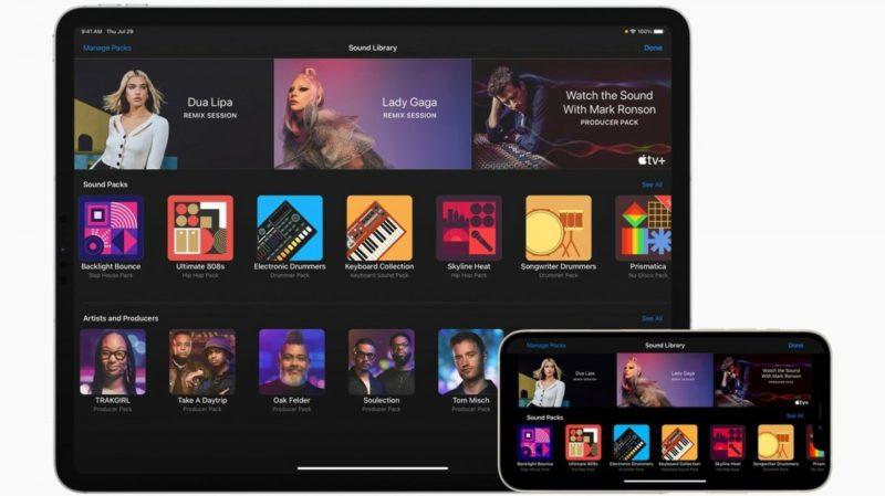 GarageBand music software gets celebrity content
