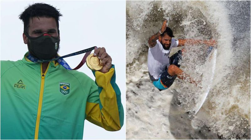 Italo Ferreira: he surfed on styrofoam tops, jumped into the sea with his jeans on and is the first champion of the Olympic waves