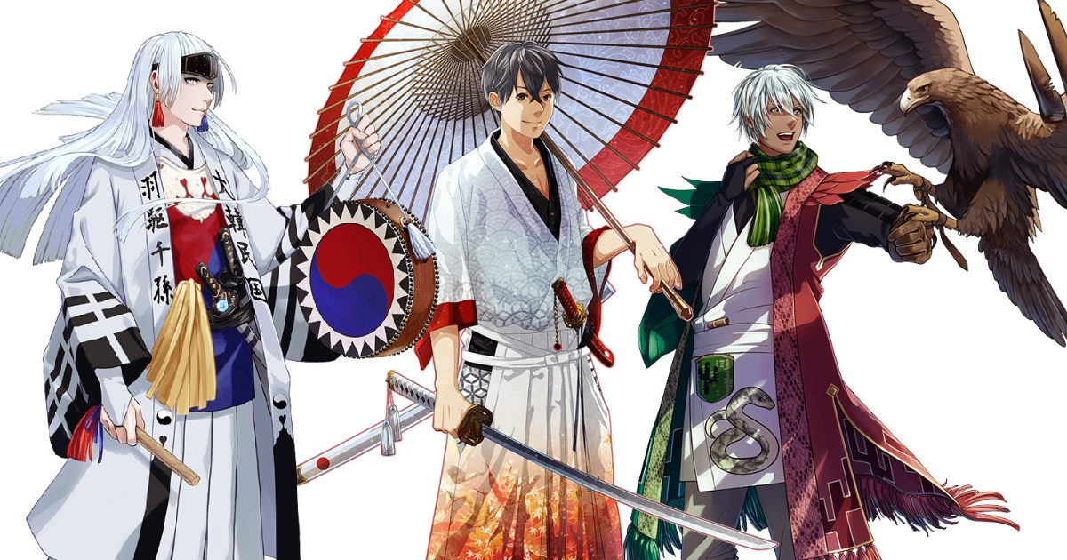 Japanese artists recreate countries in anime samurai style for Tokyo 2020