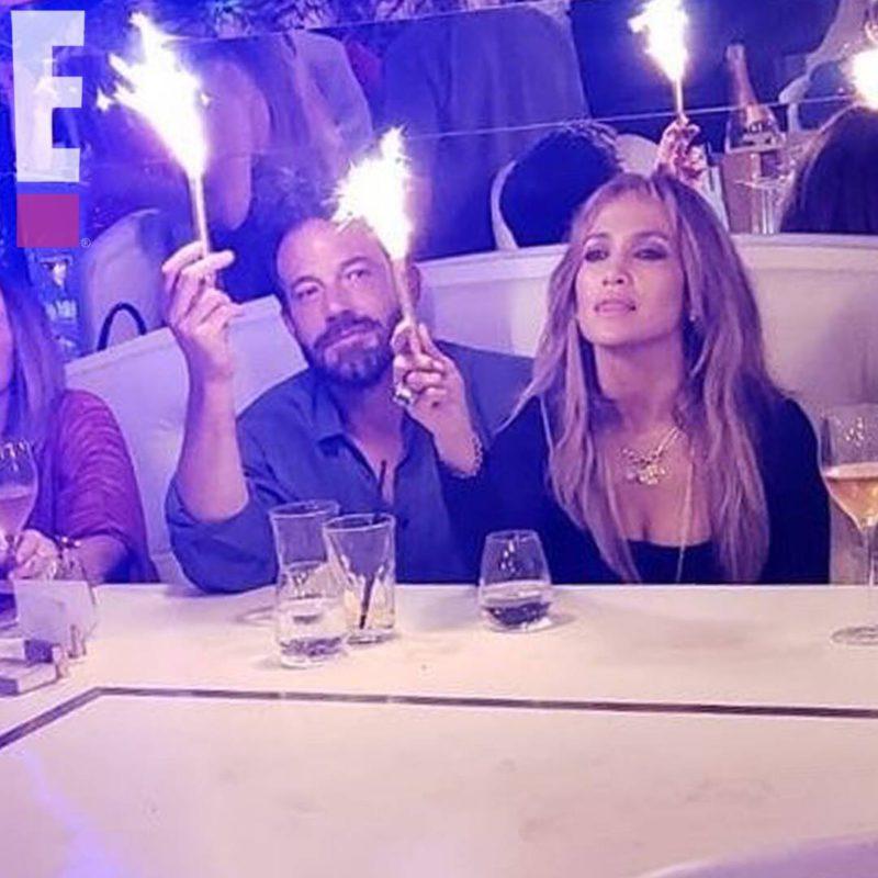 Jennifer Lopez and Ben Affleck party like it's 2002 to celebrate J.Lo's 52