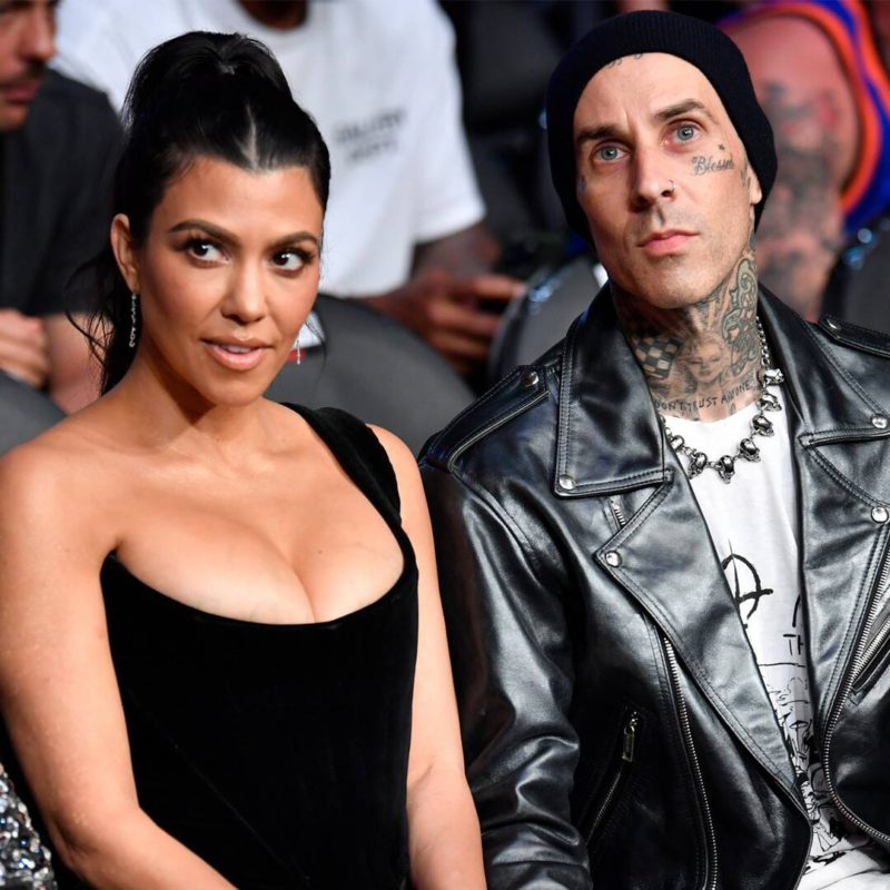 Kourtney Kardashian and Travis Barker's sexy make-out session at the UFC