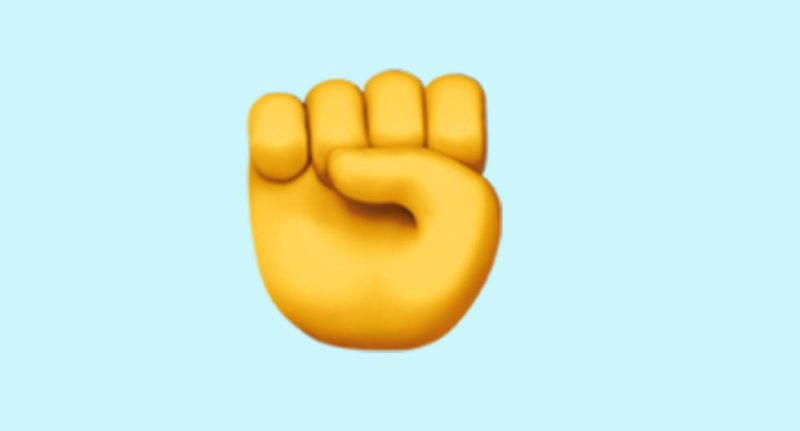 What does raised fist mean in WhatsApp and when to use it?