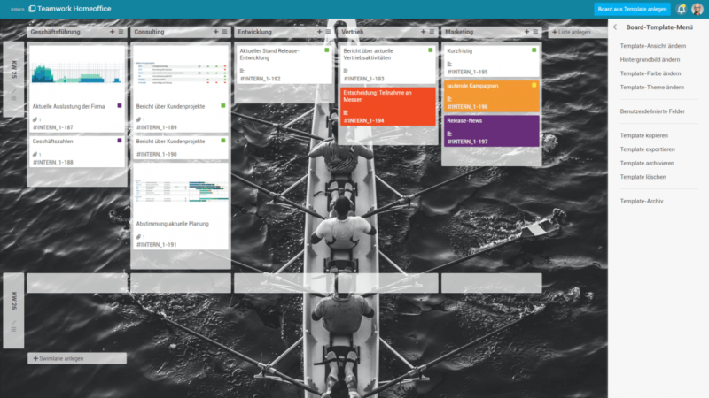 Project management from Planta: Constantly standardized Kanban boards with templates