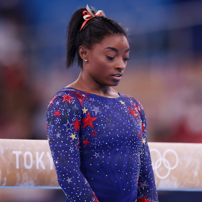 Simone Biles withdraws from the final of the women's gymnastics team at the Tokyo Olympics