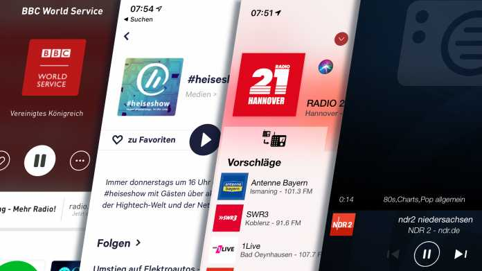 Internet instead of broadcasting: radio streaming services in comparison