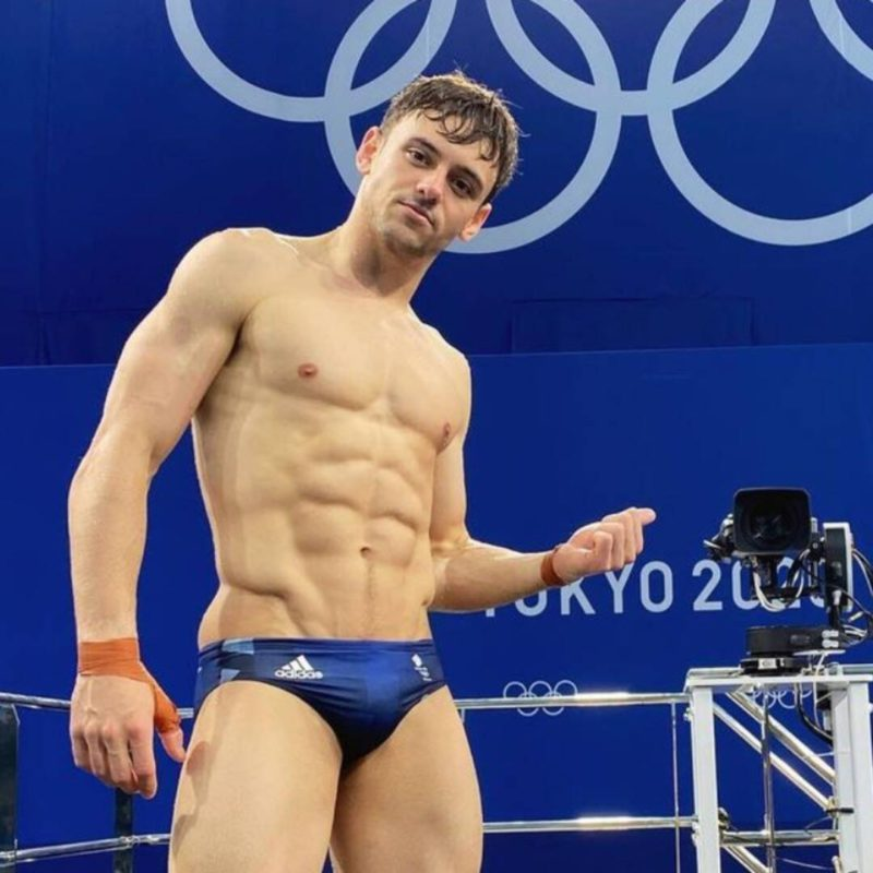 The adorable way Tom Daley protects the gold medal he won at the Tokyo Olympics
