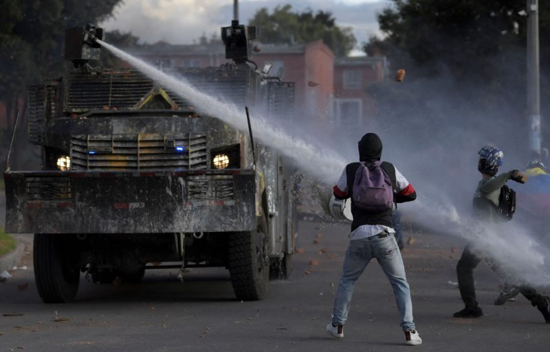 The armed conflict in Colombia intensified during the protests