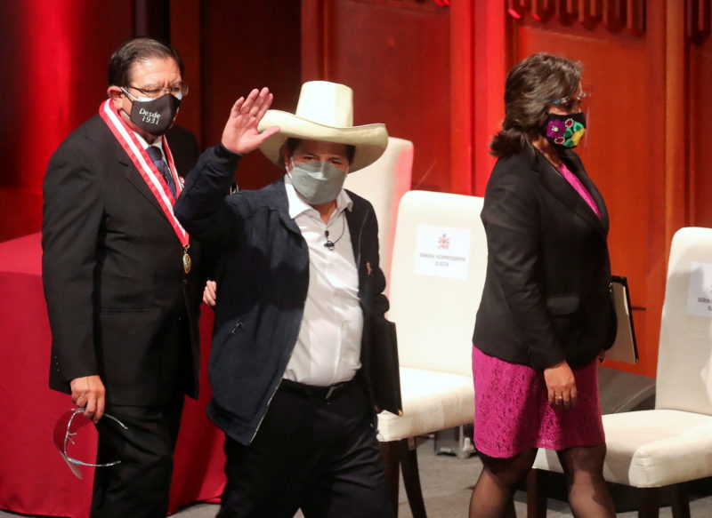The inauguration of Pedro Castillo as president of Peru, live