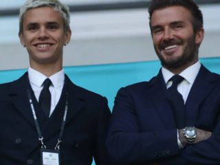 This adorable image confirms that Romeo Beckham is the clone of David Beckham