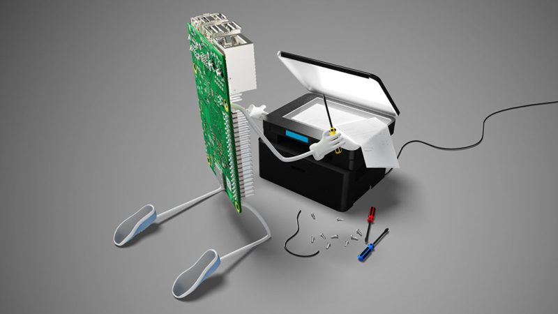 Upcycling via Raspi: Use old printers & scanners with modern operating systems