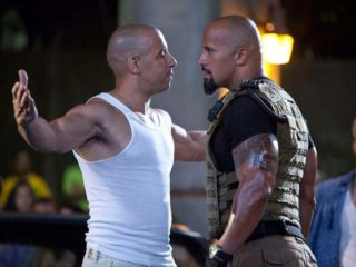 Hobbs y Toretto en Fast and furious