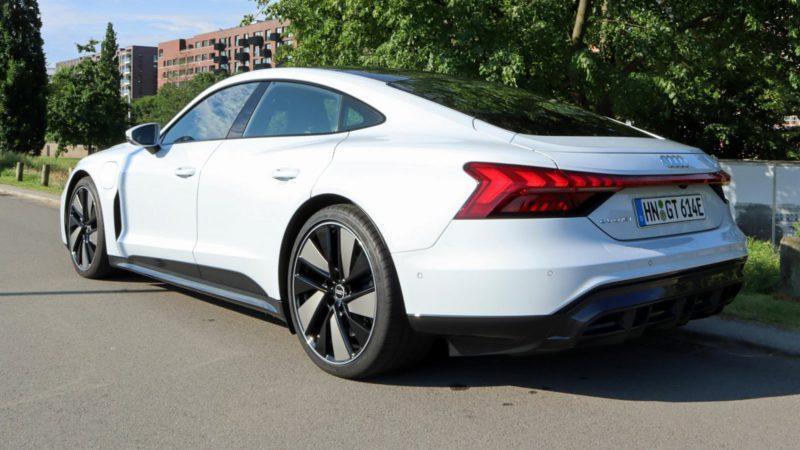 Electric car Audi e-tron GT in the test