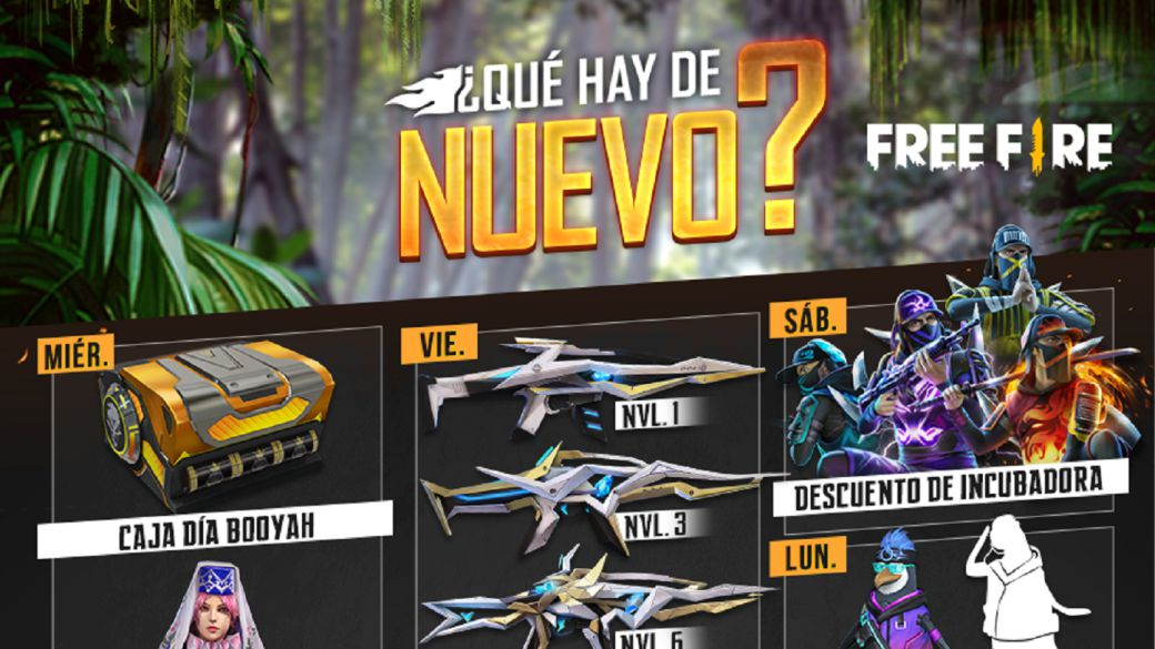 Free Fire: weekly agenda from August 4 to 10 with animal recharge and Booyah day box