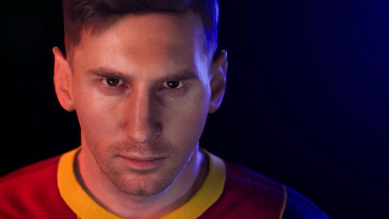 Leo Messi in eFootball (PES), the last video game where he wore the FC Barcelona shirt