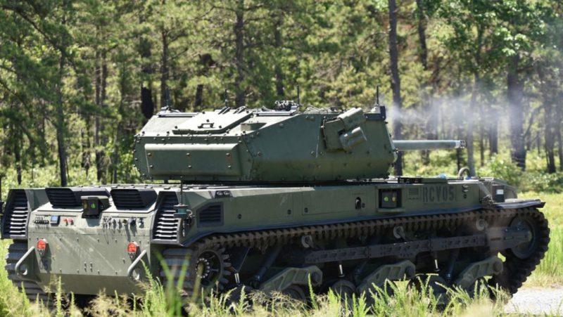 El ejército de EE.UU. somete a prueba con munición real un tanque robótico