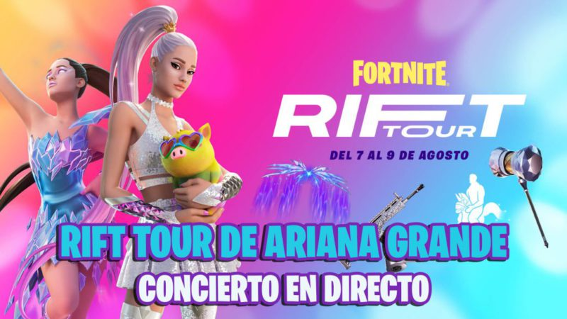 Ariana Grande event in Fortnite live;  Tour Rift concert live