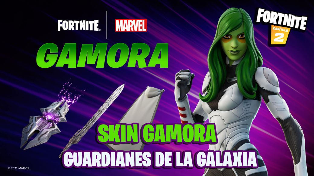 Fortnite: Gamora from Guardians of the Galaxy (Marvel) is coming to the game