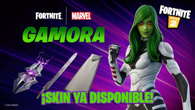 Fortnite: Guardians of the Galaxy Gamora Skin Now Available;  price and contents