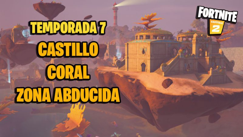 Fortnite: Coral Castle is being abducted by the mothership
