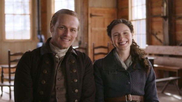 Sam Heughan and Caitriona Balfe love each other like brothers.  Photo: (Starz Play)