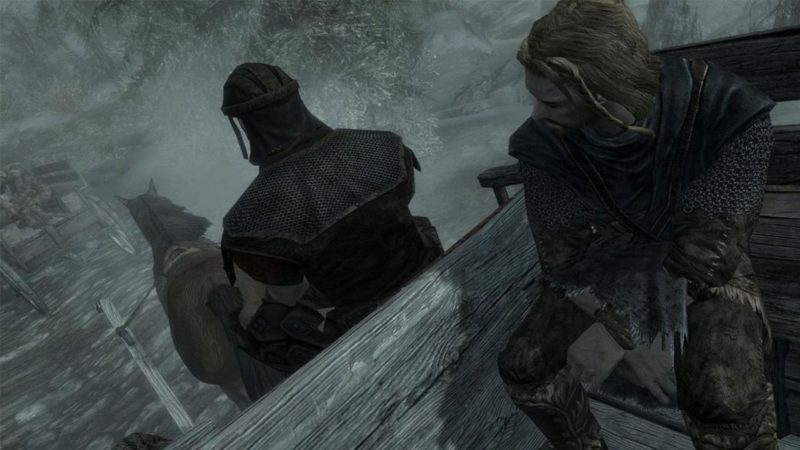 Skyrim's chariot was launched into space by a bee during development