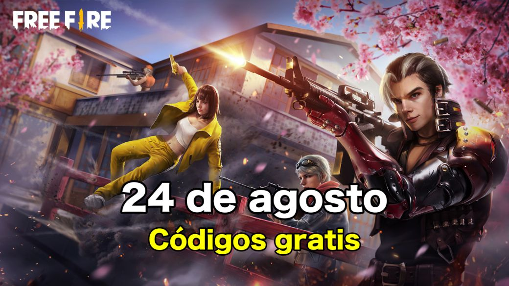 Today's Free Fire Codes August 24, 2021;  all free rewards