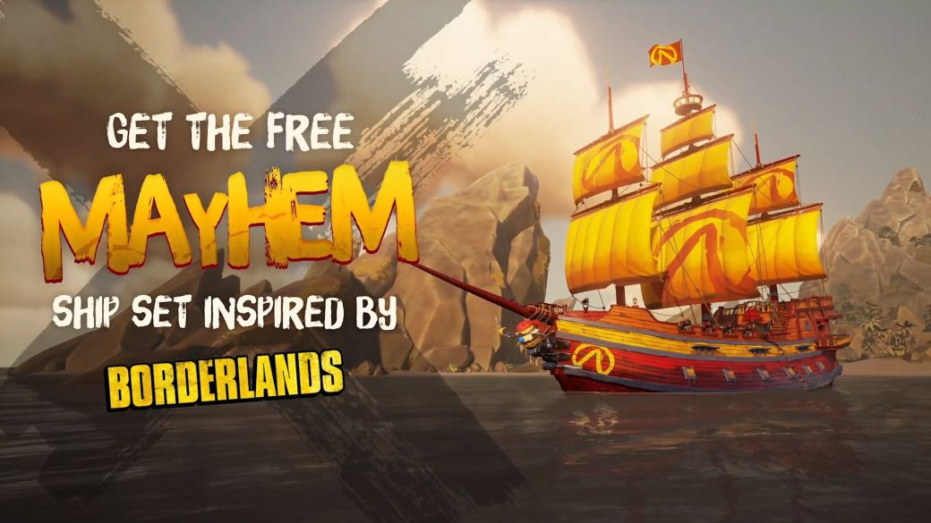 Sea of Thieves x Borderlands: new crossover with free ship